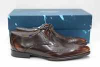 OLIVER SWEENEY Men's Buxhall Cognac Brown Leather Wing Tip Derby Shoes UK7 EU41