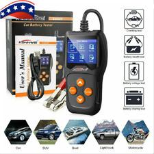 Car 12V Load Digital Battery Analyzer Tester Multi Language KONNWEI KW600 USA