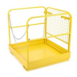 Forklift Access Platform 86*86cm Safety Cage 340kg Basket 16*6cm Slots