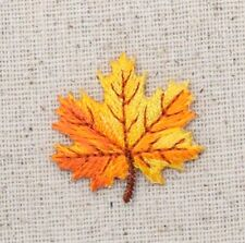 Small - Yellow/Orange Tree Leaf Fall Leaves Iron on Applique/Embroidered Patch