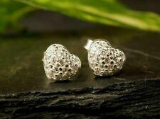 Süße 925 Sterling Silber Ohrringe Stecker Herz Liebe Love Zirkonia Tosh Signiert