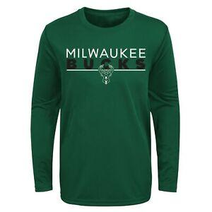 Outerstuff NBA Youth Milwaukee Bucks Tactical Stance Performance Tee