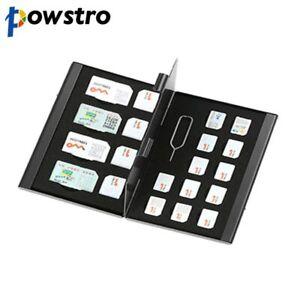 21 in 1 Aluminum Portable SIM Micro Card Memory Storage Case Protector Holder