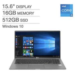 """2021 LG Gram 15.6"""" Laptop 11th Gen Intel Core i5 16 GB x 512Gb SSD WINDOW 10 HOM"""