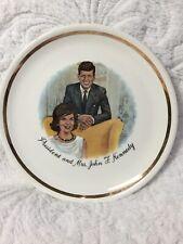 VINTAGE PORCELAIN JFK AND JACKIE KENNEDY PLATE
