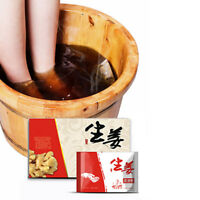 Foot Bath Powder Chinese Herbal & Ginger Bag Relax Foot Care Soften Detox Soak