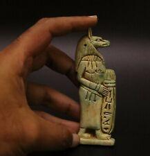 Rare Egyptian Antique Amulet Depicting the God Anubis Egypt Statue Stone 525 Bc