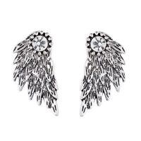 Women's Elegant Punk Angel Wings Rhinestone Drop Ear Stud Earrings Jewelry Newly