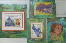 Vervaco Disney's Tarzan Counted Cross Stitch Kits x 4