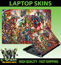 MARVEL DC ACTION HERO SCENE SUPERHEROES LAPTOP STICKER SKIN VARIOUS SIZES DECAL