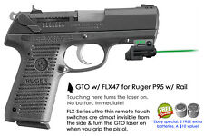 ArmaLaser GTO for Ruger P95 w/ Rail GREEN Laser Sight w/ FLX47 Grip Touch On/Off