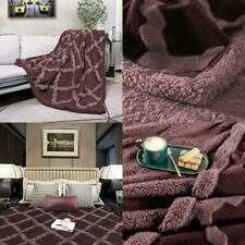 New listing Campir Sherpa Throw Blankets For Bed,Super Soft Warm Dual Sided Blanket,Machine