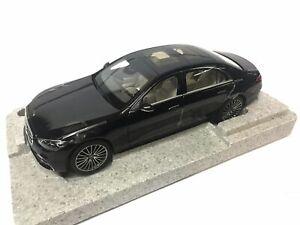 MERCEDES S CLASS AMG LINE V223 W223 2020 ONYX BLACK NOREV B66960634 1/18 BENZ