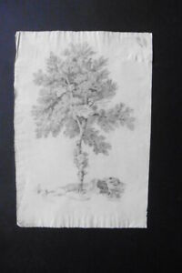 FRENCH SCHOOL 19thC - A TREE IN A LANDSCAPE - FINE CHARCOAL DRAWING