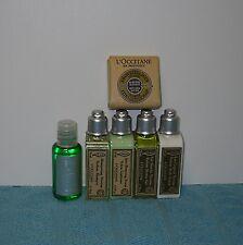 NEW L'OCCITANE Lot of 6 Travel Bottles Shampoo, Conditioner, Lotion, Soap, Gel
