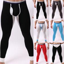 New Men's Fleece slim Warm Pants Leggings Long Johns Thermal Skinny Underwear
