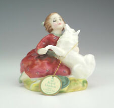 Royal Doulton Porcelain - Home Again - Young Lady & Dog Figure - Nice!