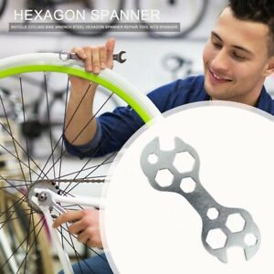 Bicycle Cycling Bike Flat Hexagon Wrench Set Steel Hexagon Spanner Hand Repair