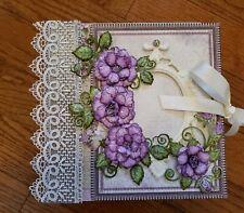 Handmade Mini Album Using Heartfelt Creations Raindrops On Roses Collection