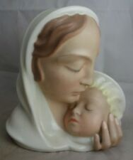 feine Porzellanfigur Pirkenhammer Muttergottes mit Kind