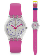 Swatch Fluo Pinky Uhr GE256 Analog  Silikon Pink