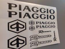 Roller Piaggio Aufkleber-Sticker Schwarz 10 Teilig auch in verschidenen Fraben