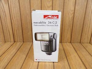 METZ MECABLITZ 36 C-2 ELECTRONIC FLASH IN ORIGINAL BOX WITH INSTRUCTIONS