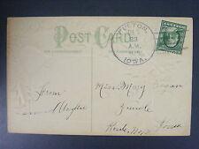 Fulton Iowa IA 1910 4-Bar Cancel Postmark Postcard DPO 1851-1942 Gost Town SI 2