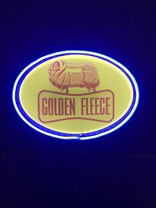 Golden Fleece Vintage petrol sign led LIGHT Neon Advertising Servo Service