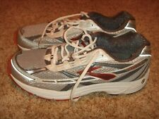 Brooks Dyad Red Silver Gray White Mens Size 11.5 M