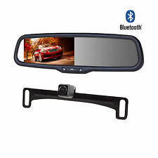 """4.3"""" Car Kit Rearview Bluetooth Mirror Monitor+Parking Camera For Car Vehicle"""
