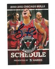 Derrick Rose Signed Autographed 2010 11 Chicago Bulls Pocket Schedule