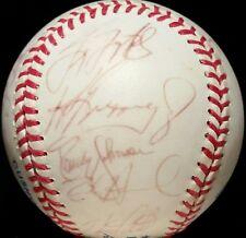 1992 KEN GRIFFEY JR Seattle Mariners Team Signed Baseball vtg RANDY JOHNSON hof