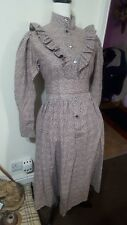 Vintage LAURA ASHLEY Brushed Cotton Edwardian Prairie Style Dress ~Size 10/12~