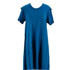 Wilt Women's Blue 100% Cotton Short Sleeve T-Shirt Dress Size Small