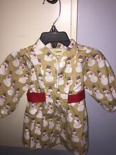 HAPPY by Pink Chicken Dress Baby Girls 3-6 Months Snowmen Holiday NWOT