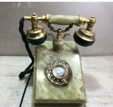 Antique Telephone Marble Made Showa Retro A Nikko Electric