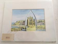 """Whitby, Yorkshire Art Print 10"""" X 8"""". vistas Del Norte Impresión De Mar Resort"""