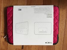 """Brand New KNOMO London Quilted Nylon Sleeve 11"""" for Tablet and laptop Teaberry"""