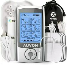AUVON Rechargeable TENS Unit Muscle Stimulator, 3rd Gen 16 Modes TENS Machine