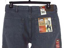 NWT Men's LEE Grey Thunder Relaxed Fit Slightly Tapered Leg Denim Jeans 34 X 30