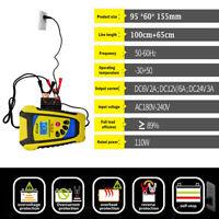 6V2A 12V2A/6A 24V3A Chargeur Batterie Automatique Intelligent Auto Moto Voiture