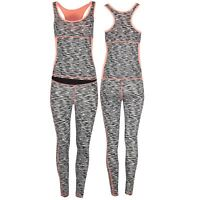 Womens Ladies  Activewear Gym Sports Running Vest Leggings Active Wear Kit Set