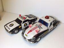 ULTRA RARE Highway Patrol Friction Car W/siren & Box + Battery Op. Car READ