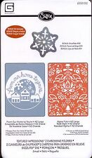 SIZZIX embossing folderS OUR HOME TO YOURS & YULE plus SNOWFLAKE die Christmas
