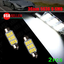 "2X Super White 36MM 1.50""  5630 9SMD LED Map License Light C5W 6411 6418"