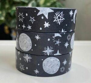 1 Roll - 'Moon & Stars' Washi Tape (Width 1.5cm / Length 10m per Roll)