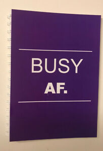 2021-2022 financial year diary Purple BUSY AF A5 WEEK TO VIEW