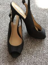 SOPHIE GRAY SHOES, SIZE 6, BLACK SPARKLES, FAB!!