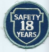 Greyhound Bus, driver patch, 18 Safety Years. 3 inch diameter